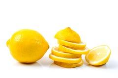 Lemon. Slice on white background Stock Image