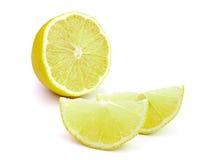 Lemon slice on white background Royalty Free Stock Images