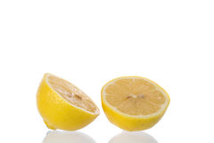 Lemon slice. On a white background stock photography