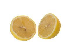Lemon slice. On a white background royalty free stock photography