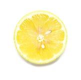 Lemon Slice on White Stock Images