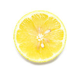 Lemon Slice on White. Background stock images