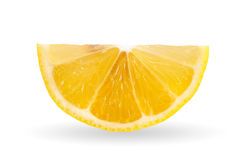 Lemon slice on white background. Stock Images