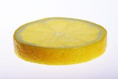 Lemon slice on white background Royalty Free Stock Photography