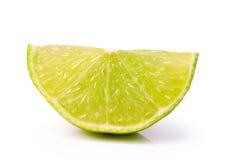 Lemon slice  on white background Royalty Free Stock Image