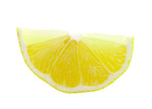 Lemon slice on white background Royalty Free Stock Photography