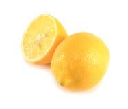 Lemon slice on white background. Royalty Free Stock Images