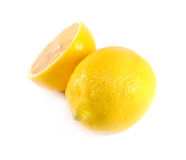 Lemon slice on white background. Royalty Free Stock Photography