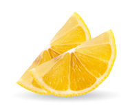 Lemon slice on white background. Royalty Free Stock Photography