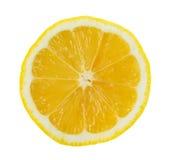 Lemon slice on white background Stock Photo