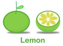 Lemon. Sliced green lemon vector graphic Stock Photo