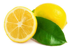 Lemon and sliced half Royalty Free Stock Images
