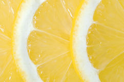 Lemon sliced macro Stock Image
