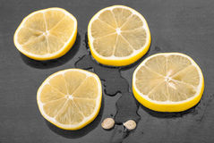 Lemon sliced Royalty Free Stock Photos
