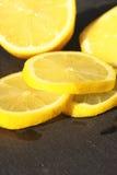 Lemon sliced slate 2 Royalty Free Stock Photography