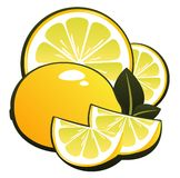 Lemon and slices Royalty Free Stock Images