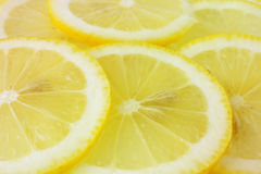 Lemon slices. Image of some ripe lemon slices Stock Photos