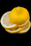 Lemon slices isolated Stock Photos