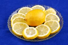 Lemon with slices Royalty Free Stock Photography