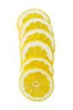 Lemon slices. On white background Royalty Free Stock Images
