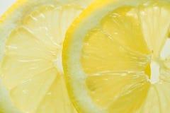 Lemon slices. On white background Royalty Free Stock Photo