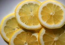 Lemon slices. On plate Royalty Free Stock Photo