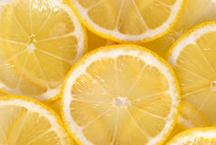 Lemon slices backgound Stock Photography