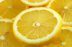 Lemon slices background Stock Photo