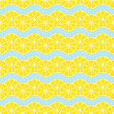 Lemon slices background seamless pattern Royalty Free Stock Photography