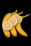 Lemon Slices and Bananas Royalty Free Stock Photo