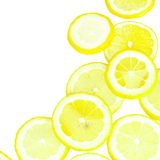 Lemon Slices Border Royalty Free Stock Photography