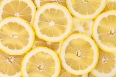 Lemon slices close up. Macro. Stock Photo
