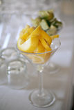 Lemon slices in cocktail glass Stock Image