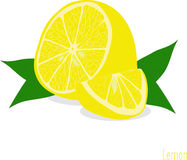Lemon slices, collection of  illustrations Royalty Free Stock Photography