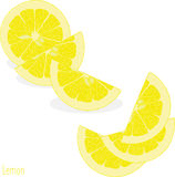 Lemon slices, collection of  illustrations Stock Photos