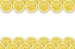 Lemon slices frame royalty free stock photo