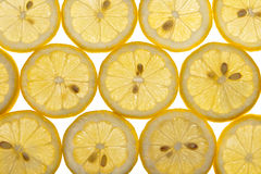 Lemon Slices Isolated on White Royalty Free Stock Photo