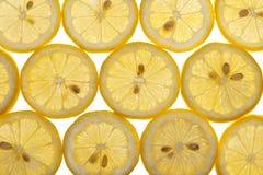 Lemon Slices Isolated on White Royalty Free Stock Photo