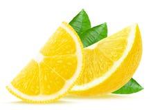 Lemon slices. Isolated on white Stock Image