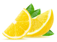 Lemon slices stock image