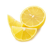 Lemon  slices  isolated  on white background Stock Photography