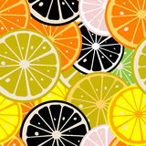 Lemon slices pattern Stock Image