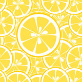 Lemon slices seamless background Royalty Free Stock Photo