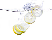 Lemon Slices in Water Stock Photos