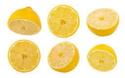 Lemon slices on white background Royalty Free Stock Photos