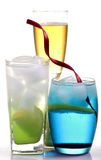 Lemon slush and iceberg drink Royalty Free Stock Photo