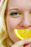 Lemon smile Royalty Free Stock Images