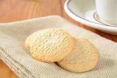 Lemon snap cookies Stock Image