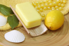 Lemon soap Royalty Free Stock Photo