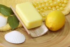 Lemon soap Royalty Free Stock Photo